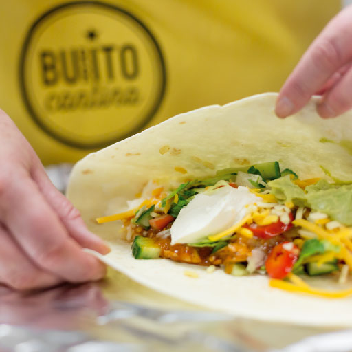 chicken burrito made with fresh ingredients