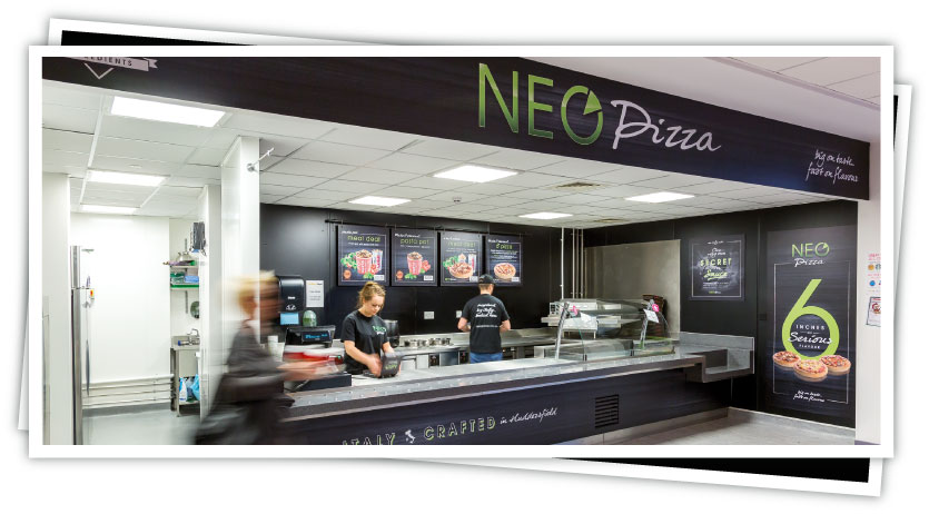 full neo pizza branding visual